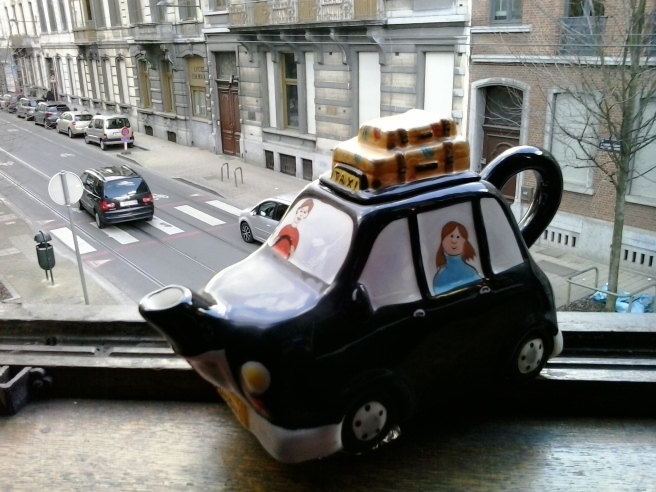 My London Taxi Teapot, by Teapot & Co., given to me by a friend whose kids I used to drive to school